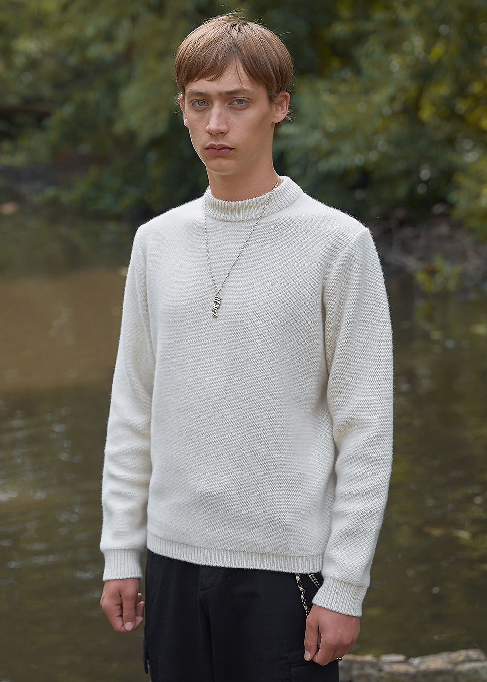 Blank Wool and Cashmere-blend Sweater - Butter Cream